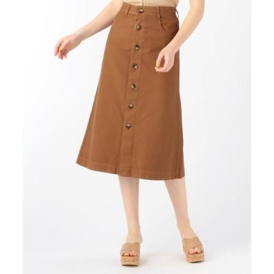 TOMORROWLAND / トゥモローランド コットンストレッチオックスフォード フロントボタンAラインスカート