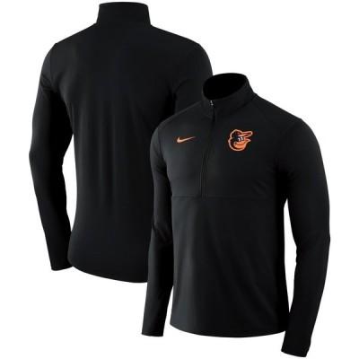 ボルチモア・オリオールズ Nike Dry Element Half-Zip Performance Pullover - Black