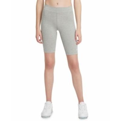 ナイキ レディース ハーフパンツ・ショーツ ボトムス Women's Sportswear Essential High-Waist Bike Shorts Dk Grey Heather/white