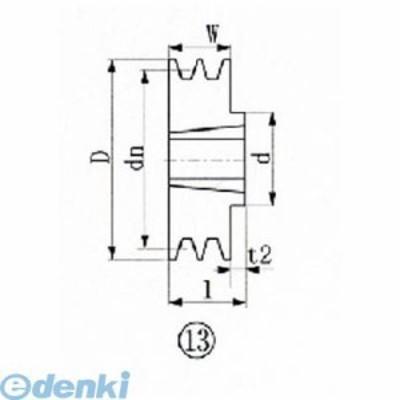 エバオン(EVN) [SPZ170-2]ブッシングプーリー SPZ 170mm 溝数2