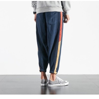 メンズ パンツ ジョガーパンツ ファッション 裾ゴム パンツ ズボン ボトムス スラックス イージーパンツ mzb49