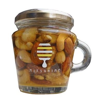 くま養蜂 みつひめ ナッツのはちみつ漬け ハニーナッツ160g かわいい小瓶 ギフト・自家用 無添加 国産蜂蜜