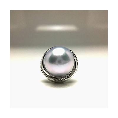 Isowa Pearl(伊勢志摩の真珠専門店 イソワパール) アコヤ真珠 ネクタイピン 9.0-9.5mm シルバーグレー シルバー 667