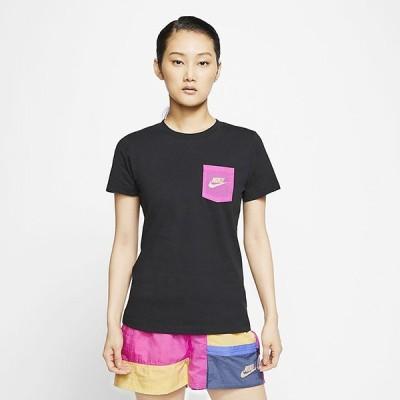 【P5倍+5%OFFクーポン】ナイキ レディース ポケット付き プリント Tシャツ AS W NSW TEE ICON CLASH CT8855 010