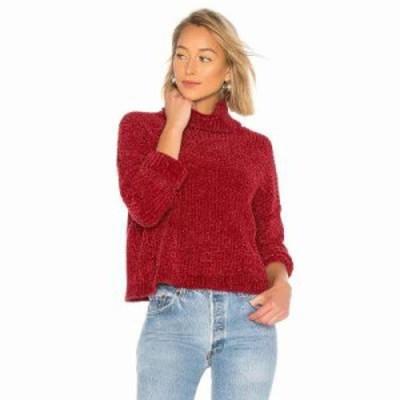 ブランクニューヨーク ニット・セーター Chenille Turtleneck Sweater Ruby