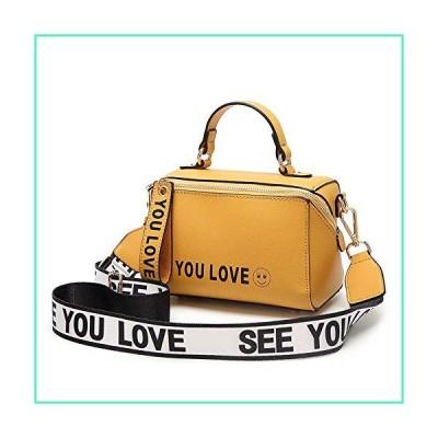 Womens Samll Crossbody Bags Mini Top Handle Handbags Designer Satchel Boston Shoulder?Purse (Yellow)並行輸入品