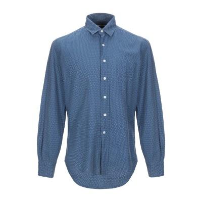 DESOTO シャツ ダークブルー S コットン 100% シャツ