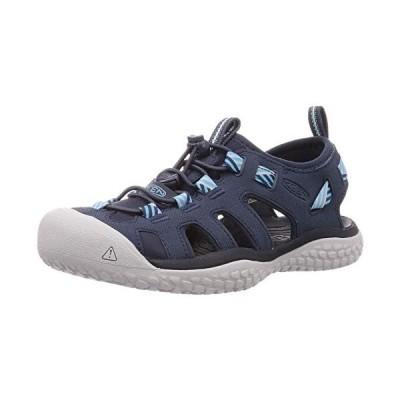 KEEN Women's SOLR High Performance Sport Closed-Toe Water Sandal Shoe, Navy/Blue Mist【並行輸入品】