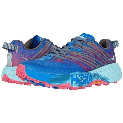Hoka One One Speedgoat 4 レディース スニーカー Imperial Blue/Pink Peacock