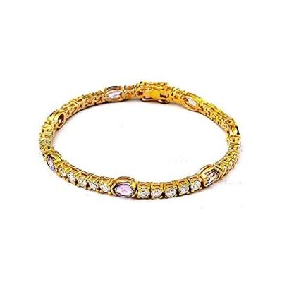[新品]Orchid Jewelry テニスブレスレット 9.45カラット パープルアメジスト 925スターリングシルバー 女性への誕生日プレゼント