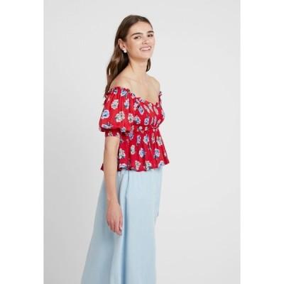 シスタージュン Tシャツ レディース トップス BLOOMING BESS SHIRRING - Blouse - red