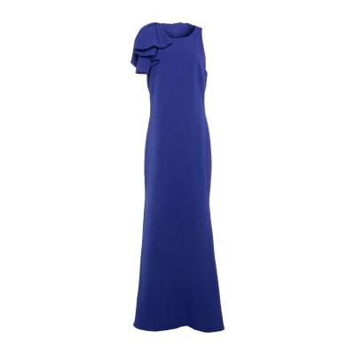 BADGLEY MISCHKA ロングワンピース&ドレス ブライトブルー 10 ポリエステル 95% / ポリウレタン 5% ロングワンピース&ドレス