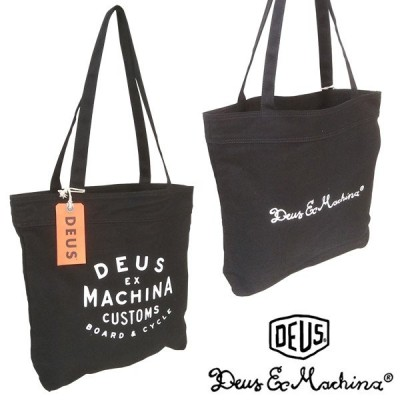 Deus ex Machina デウス エクスマキナ メンズ レディース 兼用 トートバッグ NEW CLASSICS TOTE ブラック 鞄 アメカジ スタイル
