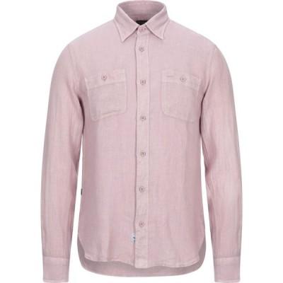 ブラウアー BLAUER メンズ シャツ トップス linen shirt Pastel pink