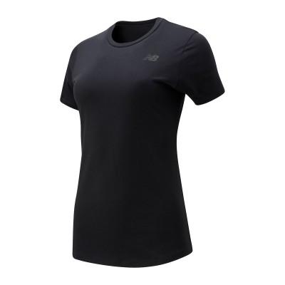 New Balance (ニューバランス) ベーシック ショートスリーブ Tシャツ M BLK レディース AWT01157BK