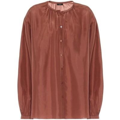 ジョゼフ Joseph レディース ブラウス・シャツ トップス Bowell silk blouse Dusty Rose