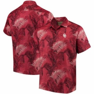 Tommy Bahama トミー バハマ スポーツ用品  Tommy Bahama Oklahoma Sooners Crimson Fez Fronds Core Camp Button-Up Shirt