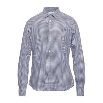 AGLINI チェック柄シャツ  メンズファッション  トップス  シャツ、カジュアルシャツ  長袖 ブラウン