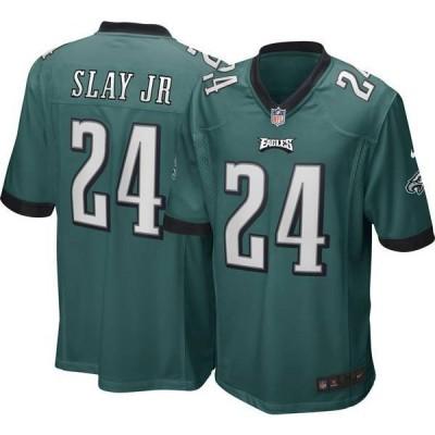ナイキ メンズ シャツ トップス Nike Men's Philadelphia Eagles Darius Slay #24 Home Green Game Jersey