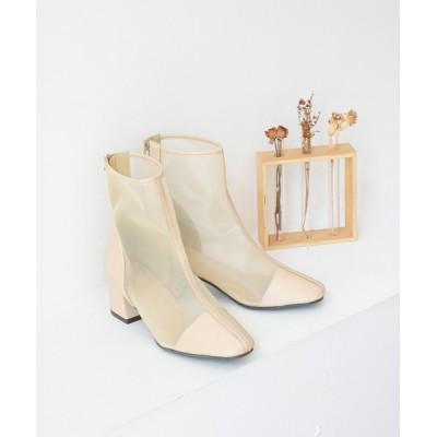 NOFALL sango / センターパイピングシアー バックファスナーショートブーツ WOMEN シューズ > ブーツ