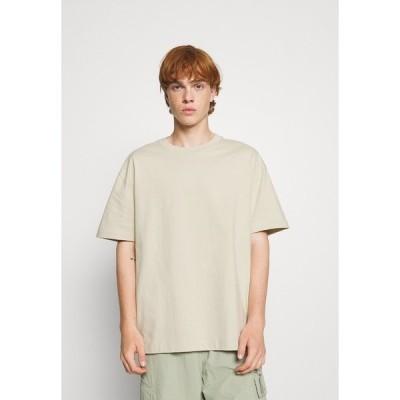 ウィークデイ Tシャツ メンズ トップス Basic T-shirt - beige