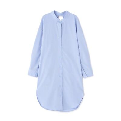 ロングシャツ ブルー