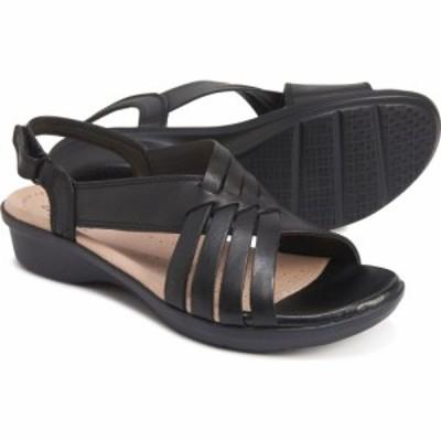 クラークス Clarks レディース サンダル・ミュール シューズ・靴 loomis cassey sandals - leather Black Leather