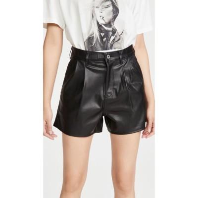 リーバイス Levi's レディース ショートパンツ ボトムス・パンツ Hi Rise Faux Leather Shorts Leather Night