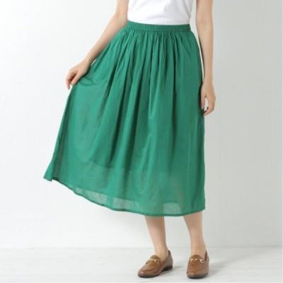 ギャザースカート グリーン M L