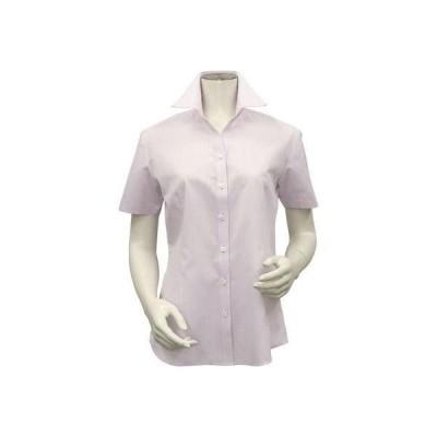 トーキョーシャツ TOKYO SHIRTS 形態安定ノーアイロン スキッパー衿 半袖ビジネスワイシャツ (ライトピンク)