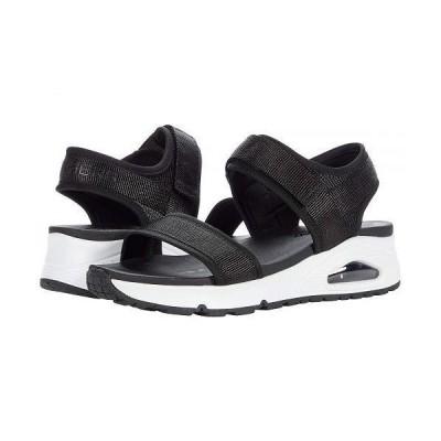 SKECHERS スケッチャーズ レディース 女性用 シューズ 靴 サンダル Uno - New Sesh - Black/White