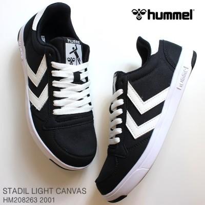 ヒュンメル スニーカー hummel STADIL LIGHT CANVAS HM208263 2001 BLACK スタディールライト キャンバス スニーカー