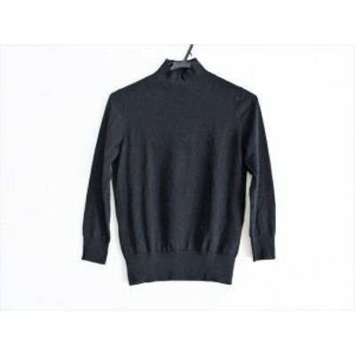ニジュウサンク 23区 長袖セーター サイズ32 XS レディース 黒 Botto giuseppe/ハイネック【還元祭対象】【中古】20200324