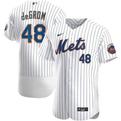 ナイキ メンズ Tシャツ トップス Jacob deGrom New York Mets Nike Home 2020 Authentic Player Jersey