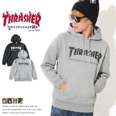 THRASHER スラッシャー スウェットパーカー センターMAGロゴプリント (TH8501)