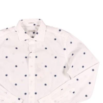 【40】 Himon's ヒモンズ 長袖シャツ メンズ 花柄 ホワイト 白 並行輸入品 カジュアルシャツ