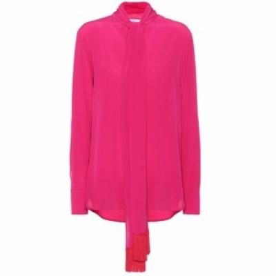 ステラ マッカートニー Stella McCartney レディース ブラウス・シャツ トップス Silk blouse HOT PINK/RED