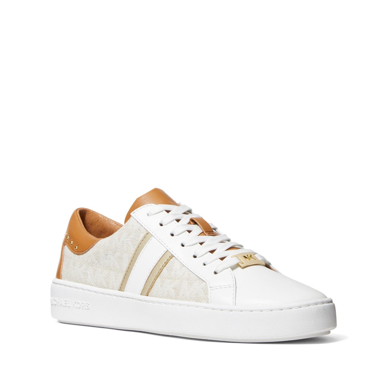 MICHAEL KORS Keaton 白色皮革平底鞋