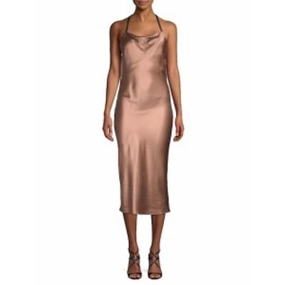 フルールドゥーマル レディース ワンピース Cowlneck Silk Midi Dress