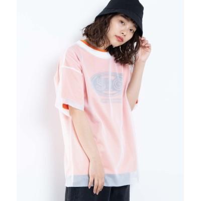 tシャツ Tシャツ WEGO/メッシュセットロゴTシャツ