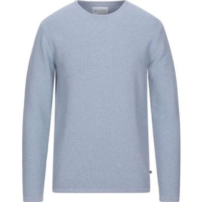 ミニマム MINIMUM メンズ ニット・セーター トップス sweater Sky blue