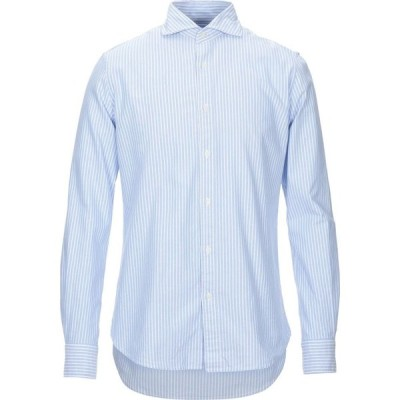 マルシアーノ MARCIANO メンズ シャツ トップス striped shirt Sky blue