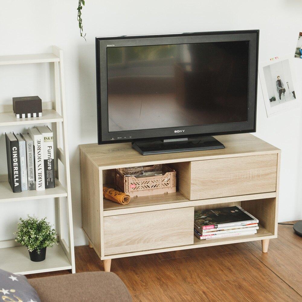 電視架/置物架/收納櫃 森田E1滑門電視櫃 完美主義rt 【N0093】