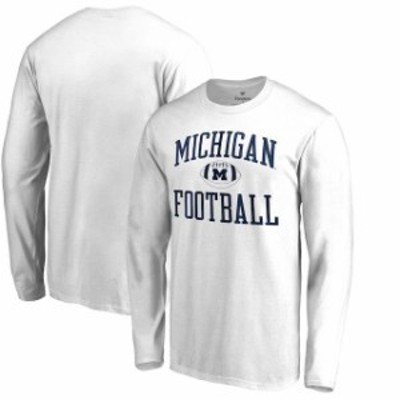Fanatics Branded ファナティクス ブランド スポーツ用品  Fanatics Branded Michigan Wolverines White Neutral Zone Long Sleeve T-Shi
