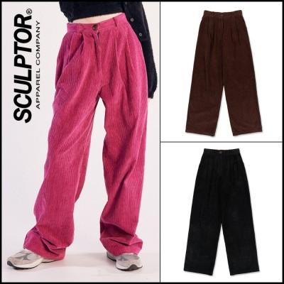 大人気★韓国ファッション⭐SCULPTOR⭐Wide Pin Tuck Corduroy Pants