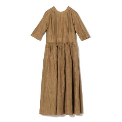 【シップス ウィメン】Uhr:オープンバックタックドレス
