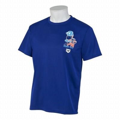 【5/31まで・35%OFF】アリーナ Tシャツ AMUPJA50 BLU サイズ男性用M 2020年春夏モデル