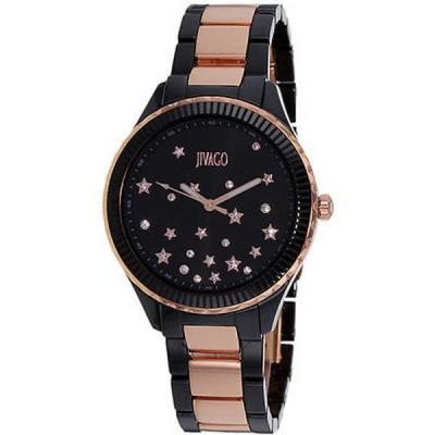 腕時計 ジバゴ Jivago レディース JV2415 'Sky' クリスタル ツートン セラミック 腕時計