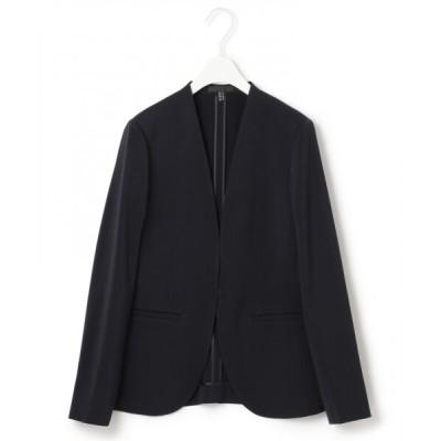L size ONWARD(大きいサイズ)/エルサイズオンワード 【洗える】Fied ノーカラージャケット ネイビー系 46
