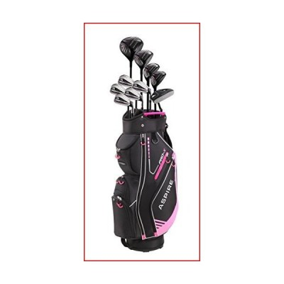 Aspire PRO-X Ladies Womens Complete Right Handed Golf Clubs Set Includes Titanium F Driver, 3 Fairway Wood, 4-5 Hybrids, 7-SW Irons, Putter,